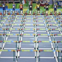 Hürdenfinale der Männer 2016 in Rio. Foto: picture-alliance
