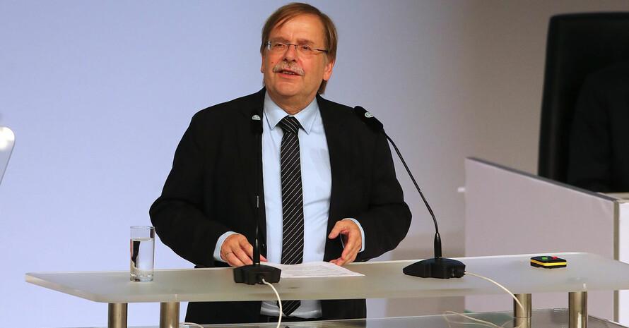 Rainer Koch beim DFB-Bundestag 2019 in Frankfurt am Main. Foto: picture-alliance