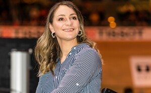 """U.a. begleitet die mehrfache Olympiasiegerin im Bahnradsport, Kristina Vogel, die zwölfteilige Serie """"Reise durch Sportdeutschland"""". Foto: picture-alliance"""