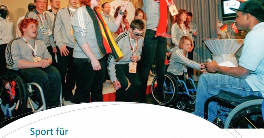 """Die von den Landesverbänden des DBS durchgeführten TalentTage richten sich vor allem an junge Menschen, die bisher noch keinen Kontakt zum organisierten Sport hatten. Screenshot vom DBS-Broschürentitel """"Sport für Kinder und Jugendliche mit Behinderung"""""""