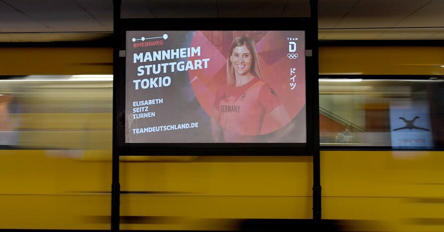 Ganz Deutschland wird die Erfolge aus Tokio auf den digitalen Werbeflächen von Ströer, z.B. an U- und S-Bahn-Haltestellen, miterleben können. Foto: Ströer