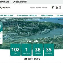 Screenshot von der Startseite kiel-2018.specialolympics.de