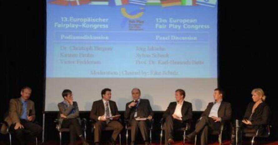 Hochkärätig besetzte Diskussionsrunden prägten den 13. Europäischen Fairplay-Kongress in Frankfurt am Main. Foto: Stefan Krutsch