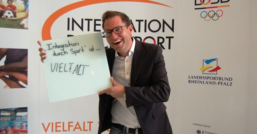 """... Vielfalt"""" (Thomas Kloth, Abteilungsleiter Leistungssport des Landessportbundes Rheinland-Pfalz)"""