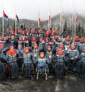Das paralympische Team freut sich auf den Beginn der Spiele in PyeongChang. Foto: picture-alliance