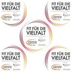 """Aktionszeichen """"Fit für die Vielfalt"""" – Komplettpaket"""