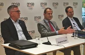Siegried Kaidel, Alfons Hörmann und Andreas Silbersack (v.li.) stehen stellvertretend für die verbandsübergreifende Diskussion im Sinne des deutschen Spitzensports. Foto: DOSB