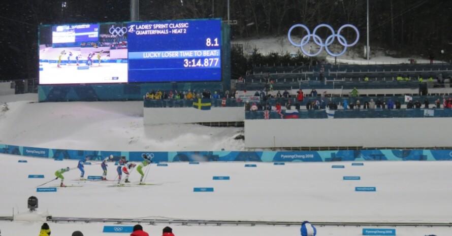 Beim Sprint der Damen und Männer folgte Rennen auf Rennen.