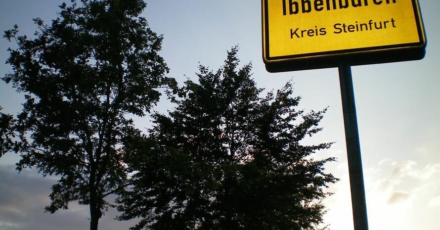 Ortseingang zur zur Finalstadt Ibbenbüren; Foto: Stadtmarketing Ibbenbüren GmbH