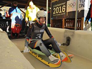 Eliteschülerin des Sports Jessica Tiebel bei den Olympischen Jugendspielen in Lillehammer. Foto: DOSB