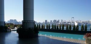 Von der Terrasse des Deutschen Hauses bietet sich ein fantastischer Ausblick auf Tokio. Foto: DSM
