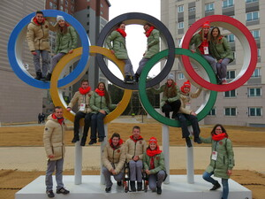 Das DOJL zu Besuch im Olympischen Dorf. Foto: DOA