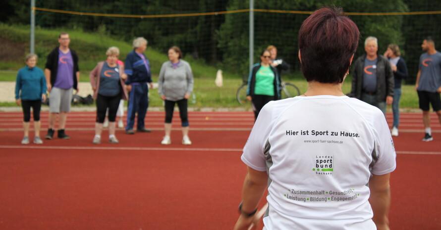 Am Tag des Sportabzeichens (Foto: Annegret Müller)