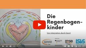 """Die Regenbogenkinder von """"Integration durch Sport"""". Das Video wurde von den Übungsleiter*innnen im Saarland erstellt. Es ist am Ende des Textes verlinkt."""