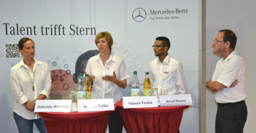 Podiumsdiskussion zur Ausbildung bei Daimler