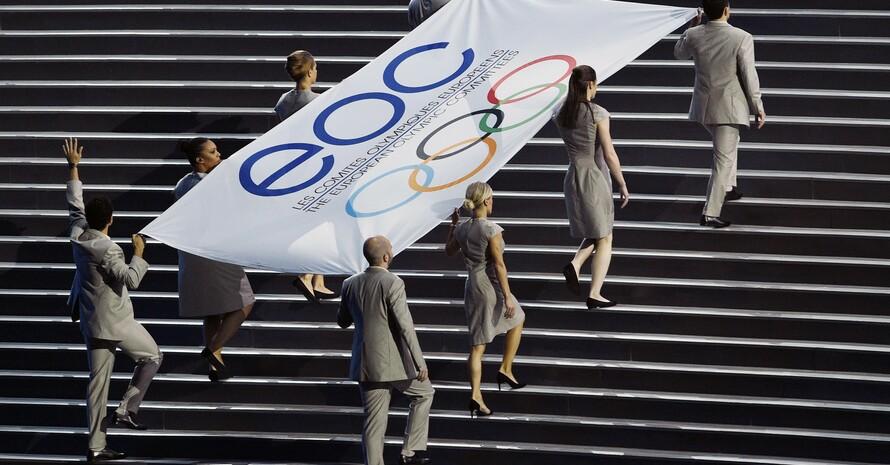 Unter der Flagge des EOC fanden 2015 in Baku die ersten Europaspiele statt. Foto: picture-alliance