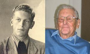 Theoklaus Barz 1950 und 2010 (Foto: Seitz, Repro: Sportbund Pfalz)