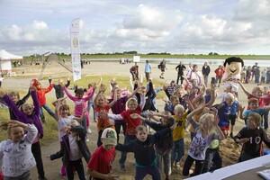 Viele Kinder waren in Büsum mit Eifer und Begeisterung bei den Prüfungen zum Sportabzeichen dabei.