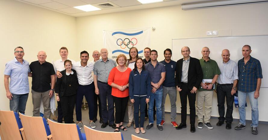Delegationen der Nationalen Olympischen Akademien aus Israel und Deutschland beim gemeinsamen Seminar. Foto: The Academic College at Wingate
