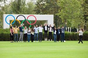 Der Spaß kam beim IOC Youth Summit in Lausanne nicht zu kurz. Foto: IOC/Philippe Woods