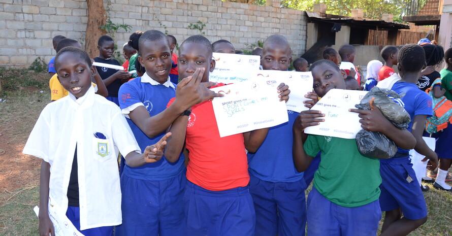 In Uganda; Foto: DOSB