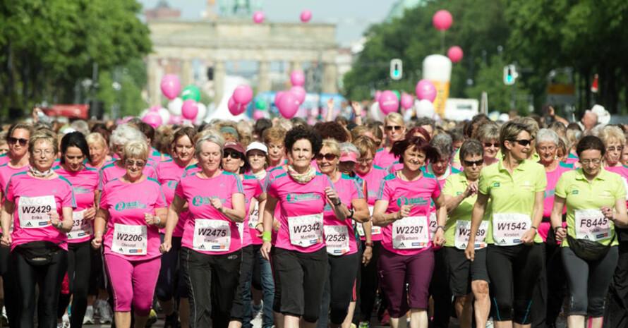 Berliner Frauenlauf am Brandenburger Tor. Foto: picture-alliance