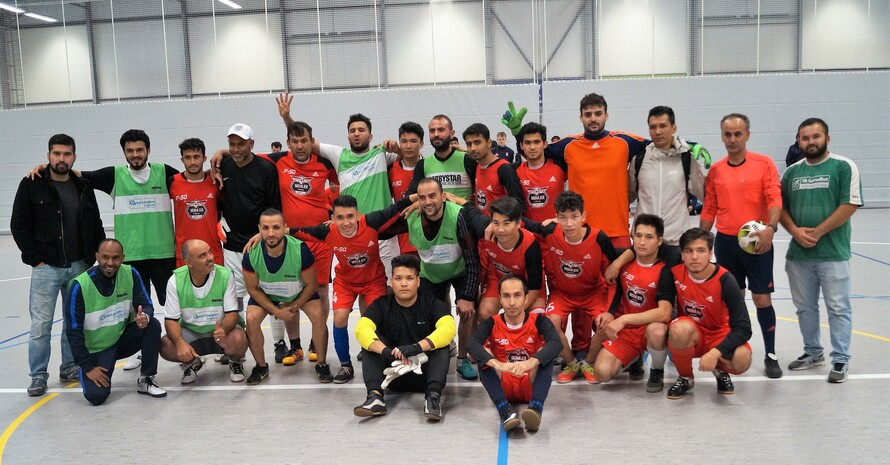 Die beiden Finalisten (Foto: Integration durch Sport)