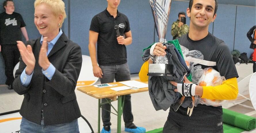 Siegerehrung der Fairplay-Sieger Fellows (Foto: Integration durch Sport)