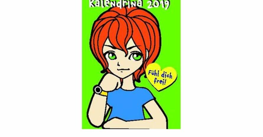 """""""Fühl dich frei!"""" heißt der aktuell erschienene Mädchenkalender Kalendrina. Coverbild: LSB NRW"""