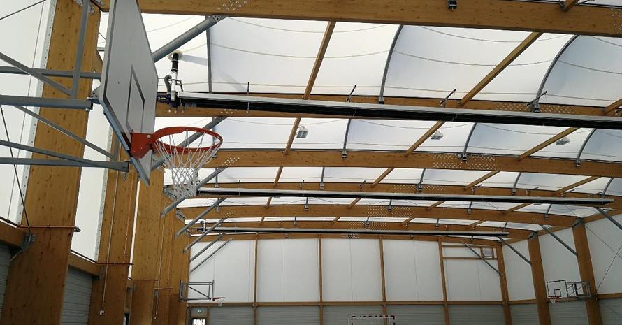 Die Großsporthalle des TuS Griesheim ist ein Leuchtturmprojekt für nachhaltige Bauweise. Foto: SMC2