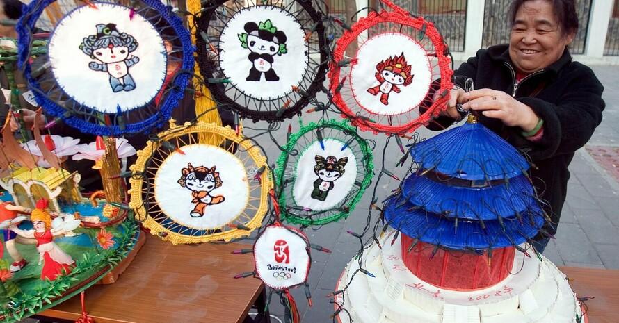 Die Maskottchen der Olympischen Spiele werden den jungen Sportler in Peking häufig begegnen. Copyright: picture-alliance