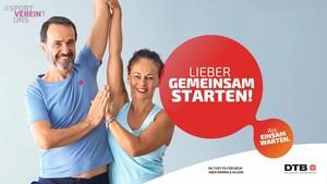 Mit der Kampagne #sportVEREINtuns soll den gesundheitlichen Folgen der Corona-Pandemie entgegengewirkt werden. Foto: DTB
