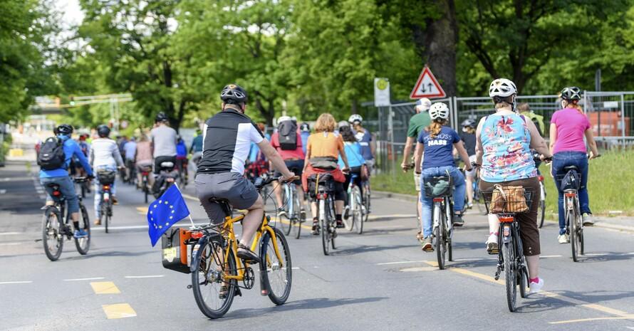 """Alle Interessierten sind während der Europäischen Aktionswoche willkommen, sich direkt an """"Radfahren vereint""""zu beteiligen. Foto: picture-alliance"""