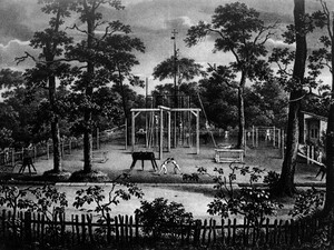 Auf dem Turnplatz der Berliner Hasenheide trafen sich vor 200 Jahren die ersten Turner. Foto: picture-alliance