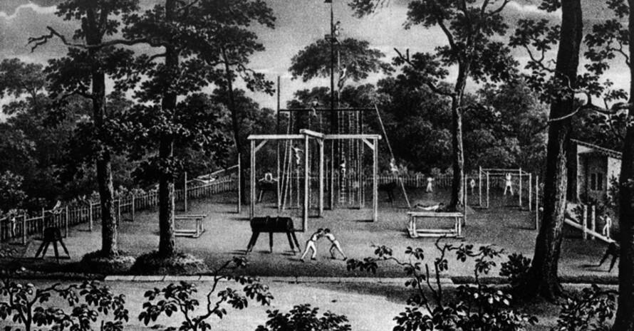 Der Turnplatz auf der Berliner Hasenheide wurde 1811 von Friedrich Ludwig Jahn mitbegründet. Copyright: picture-alliance