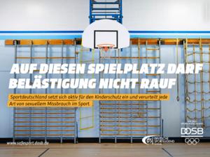 """Ein Motiv aus der Motivreihe zu """"Safe Sport"""". Foto: DOSB/picture-alliance"""
