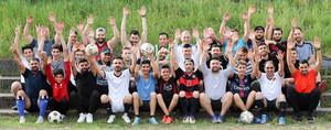 Die gesamte Truppe der Fussballer aus St. Ingbert