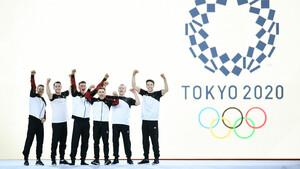 Das deutsche Turn-Team der Männer freut sich schon auf die Spiele in Tokio. Foto: picture-alliance