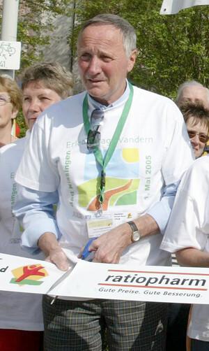 Prof. Herbert Hartmann, hier bei der Eröffnung des Erlebnistags Wandern, ist Vorsitzender für den Breitensport im DSB (Foto: DSB-Archiv)