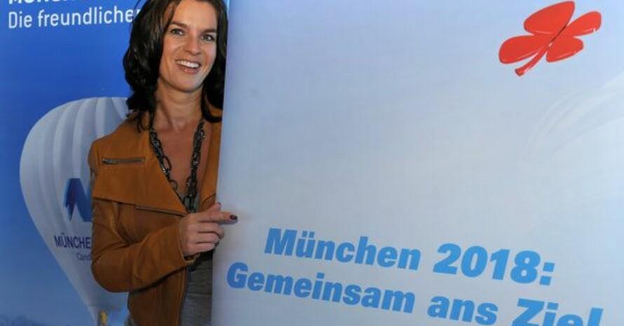 Katarina Witt, Kuratoriumsvorsitzende der Bewerbungsgesellschaft München 2018. Copyright: picture-alliance