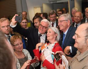 Bundespräsident Frank-Walter Steinmeier beim Deutschen Seniorentag 2018 in Dortmund / Foto: BAGSO/Deck