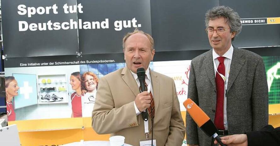 Jochen Welt (links) mit Gualtiero Zambonini, Integrationsbeauftragter des WDR, alle Fotos: Erik Hinz