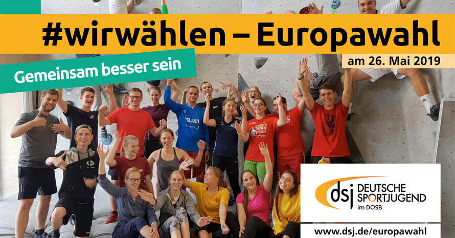 Die Deutsche Sportjugend wirbt für die Teilnahme junger Sportlerinnen und Sportler an der Europawahl. Foto: dsj