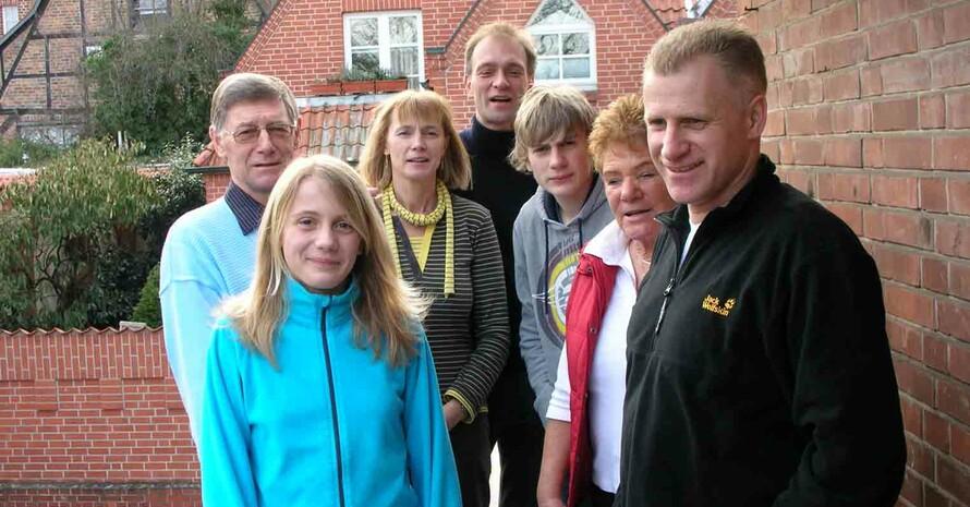 Michael Buchwald (1.v.links) mit seiner sportbegeisterten Familie 2011 (Quelle aller Fotos: Michael Buchwald)