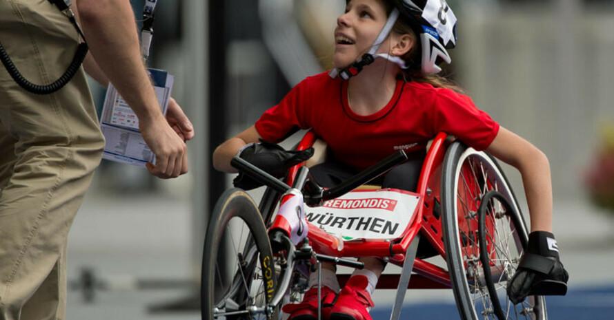 Sie zeigt Begeisterung für ihren Sport. Foto: picture-alliance
