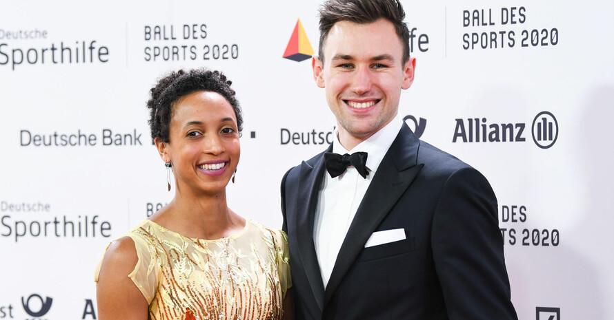 Solche Bilder wird es 2021 nicht geben: Malaika Mihambo und Niklas Kaul beim 50. Ball des Sports 2020 in Wiesbaden. Foto: picture-alliance