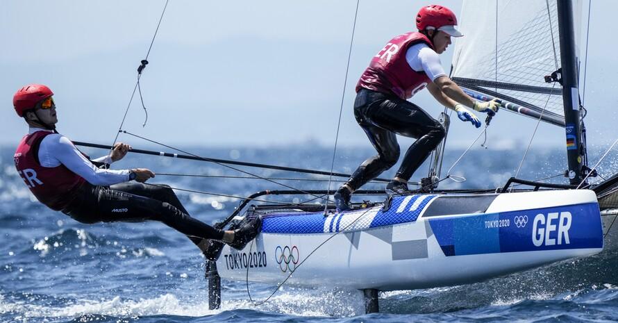 Paul Kohlhoff und Alica Stuhlemmer haben den erfolgreichen Kampf mit den Elementen am Ende mit Bronze belohnt. Foto: picture-alliance