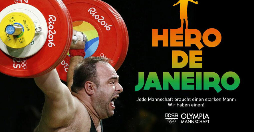 Gewichtheber Almir Velagic wurde Hero de Janeiro, weil er sich mit Leidenschaft und Können einer Sportart verschrieben hat, in der er aus vielerlei undurchsichtigen Gründen kaum Möglichkeiten hat, über Rang acht hinauszukommen. Foto: picture-alliance