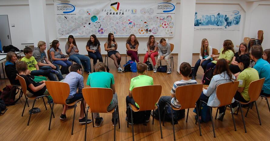 Fairplay-Workshop im Rahmen der Fairplay Soccer Tour 2013 (Foto: Integration durch Sport)