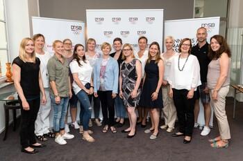 Zum Abschluss trafen sich die Tandems des DOSB-Mentoring Programms 2016/17 in Berlin. Foto: DOSB/Camera4